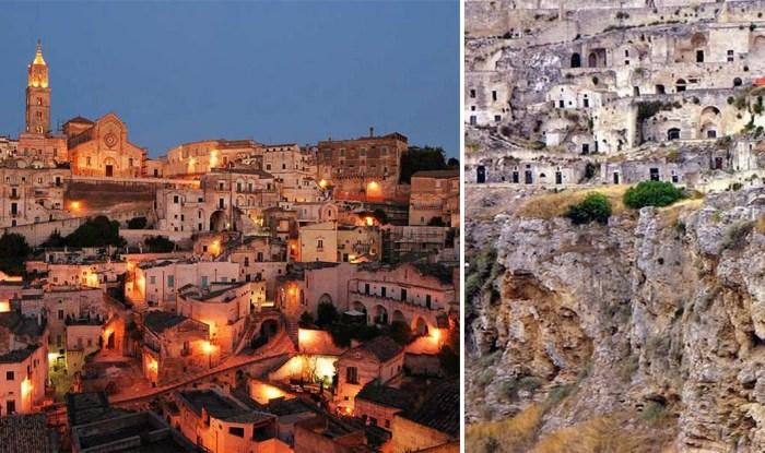 Древний город Матера - один из первых населенных пунктов в Италии.