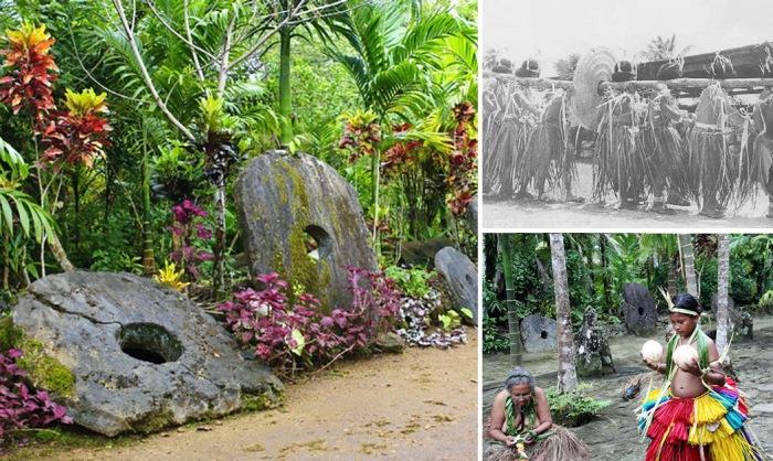 Камни «Раи» с островов Яп в Микронезии.