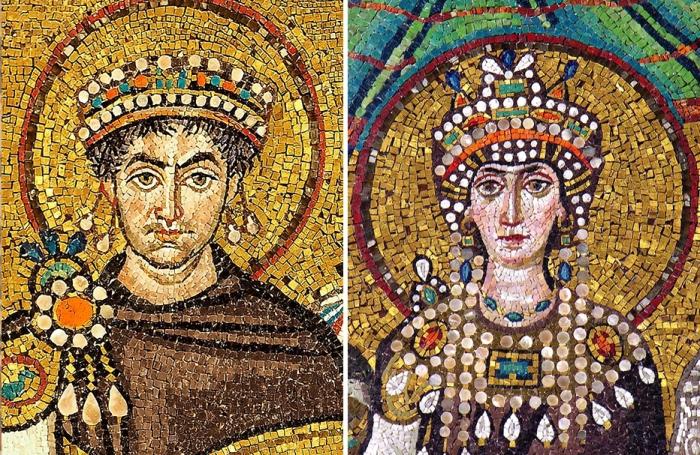 Юстиниан и Феодора: святой император и раскаявшаяся грешница.