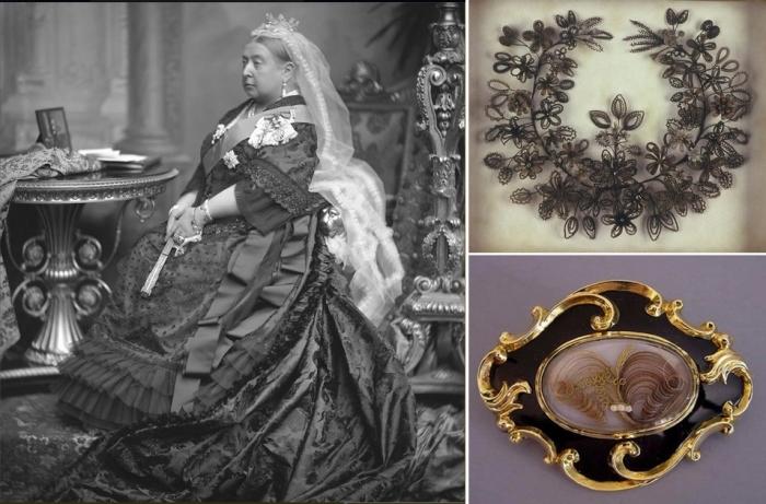 Королева Виктория - законодательница траурной моды в Англии.