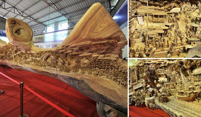 Самые впечатляющие деревянные скульптуры.