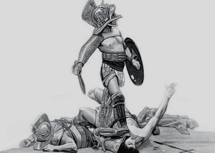 Женщины тоже были гладиаторами.