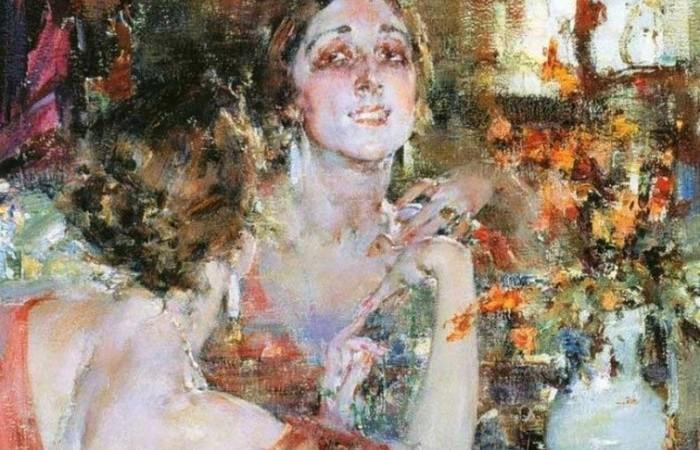 Картина Николая Фешина «Портрет Веры Фокиной».