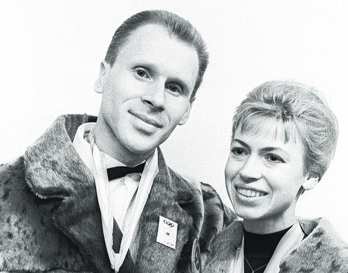 Людмила Белоусова и Олег Протопопов.