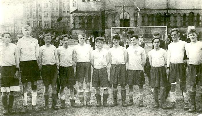 Футболисты блокадного Ленинграда.