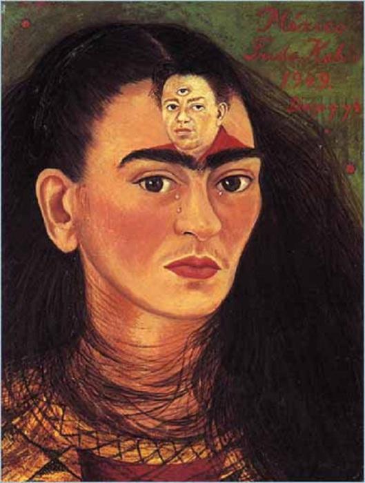 Одна из картин Фриды Кало.