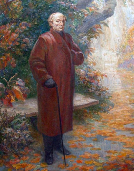Портрет Тютчева в парке. / Фото: zavtra.ru