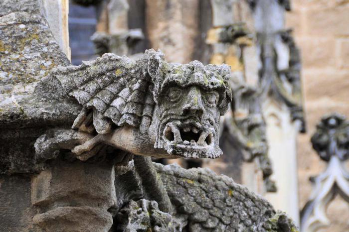 Знаменитые гаргульи и химеры, украшающие или устрашающие экстерьер Собора Парижской Богоматери.