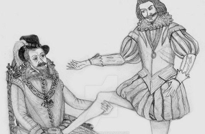 Джеймс (Яков I) и Джордж Вильерс.