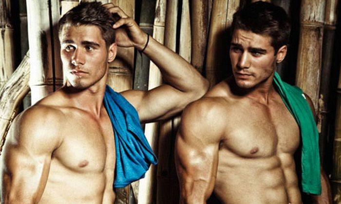 Male-модели Джейсон Осборн и Алекс Браун.