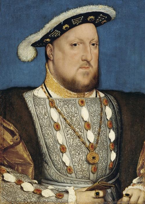 Портрет Генриха VIII кисти Гольбейна.