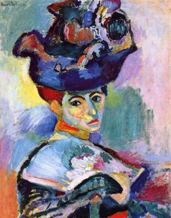 Фрагмент картины «Дама в синей шляпе», худ. Матис. / Фото: novayagazeta.ru