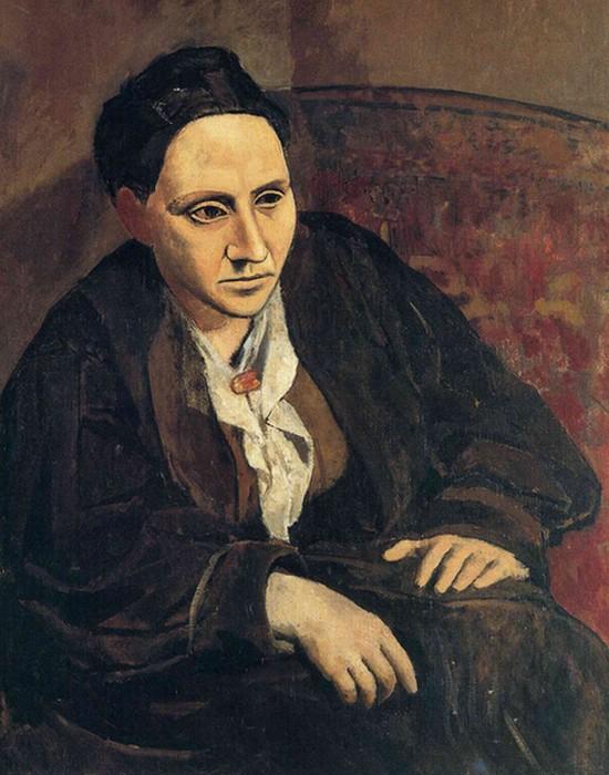 Фрагмент картины «Гертруда Стайн», худ. Пикассо. / Фото: novayagazeta.ru