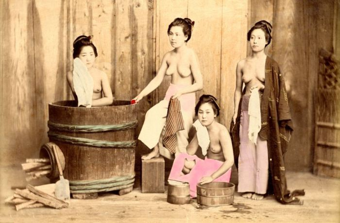 ретро фото баня женщины