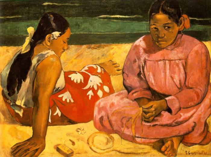 Таитянские женщины на побережье. 1891 год. Париж. Музей Д' Орсэ.