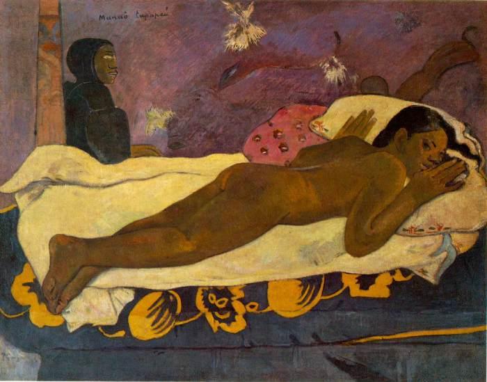 Манао Тупапау – Дух мертвых бодрствует 1892. Буффало. Художественная галерея Олбрайт-Нокс.