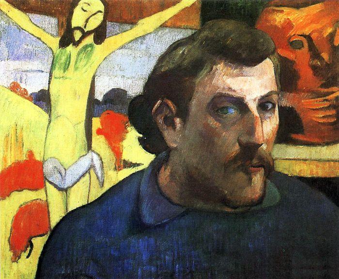 Поль Гоген. Автопортрет с Жёлтым Иисусом.