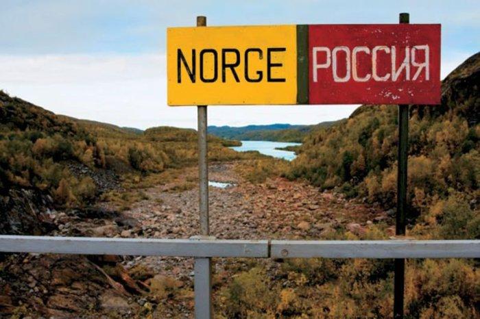 На границе Норвегии и России.