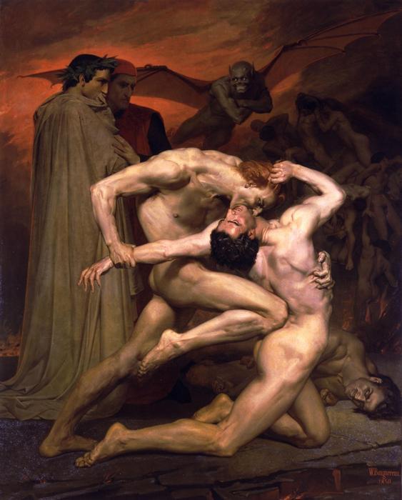 Данте и Вергилий в аду.