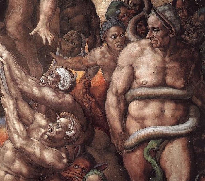 Микеланджело и его «Страшный суд».