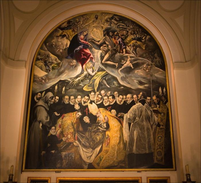 Картина Эль Греко в часовне де Руиса в церкви Сан-Томе в Толедо.