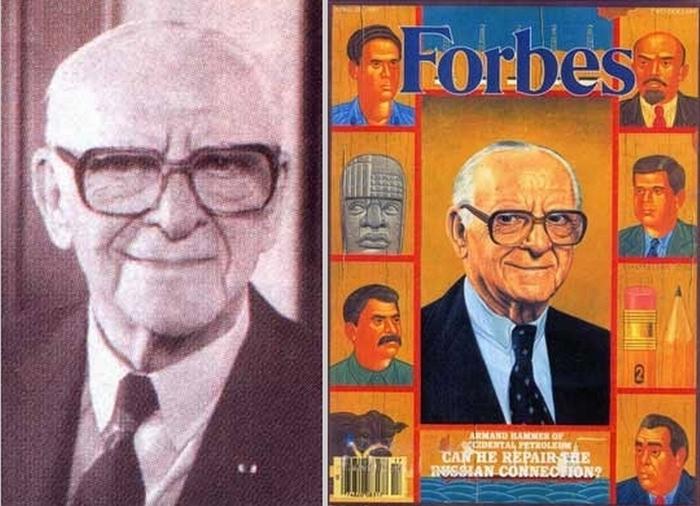 Арманд Хаммер на страницах журнала Форбс.