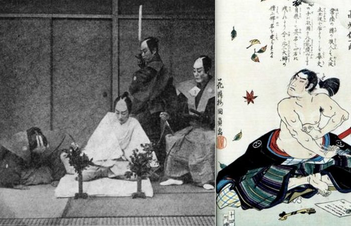 Японское ритуальное самоубийство.