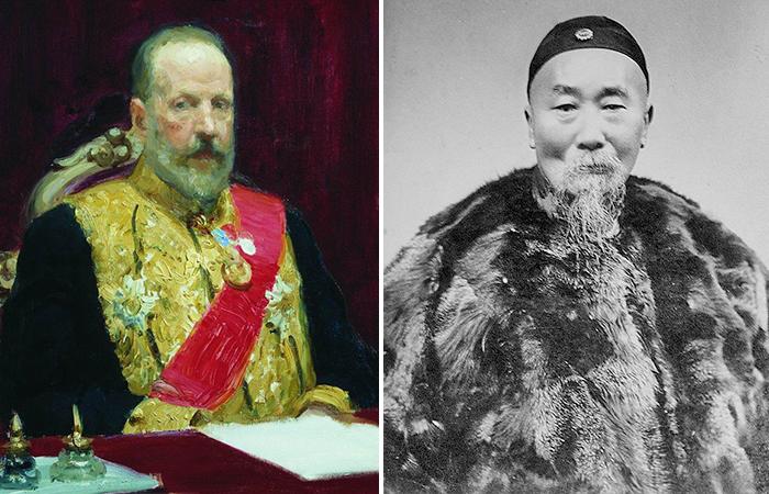 Председатель  Совета министров Российской империиВитте и канцлер Ли Хунчжан