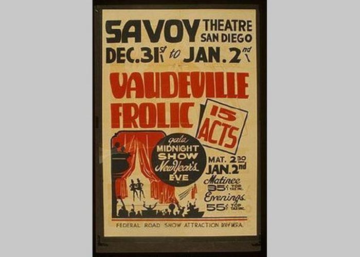 Афиша новогоднего представления «Театра Сан-Диего»./ Фото: historytime.ru