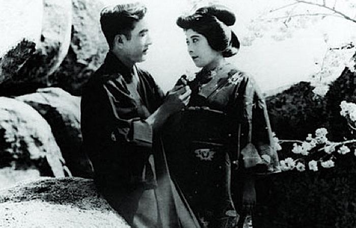 Хаякава и  Цуру Аоки, 1919 год. /фото:thevintagenews.com