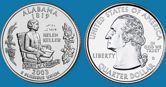 Монета США в 25 центов. | Фото: raha.ru