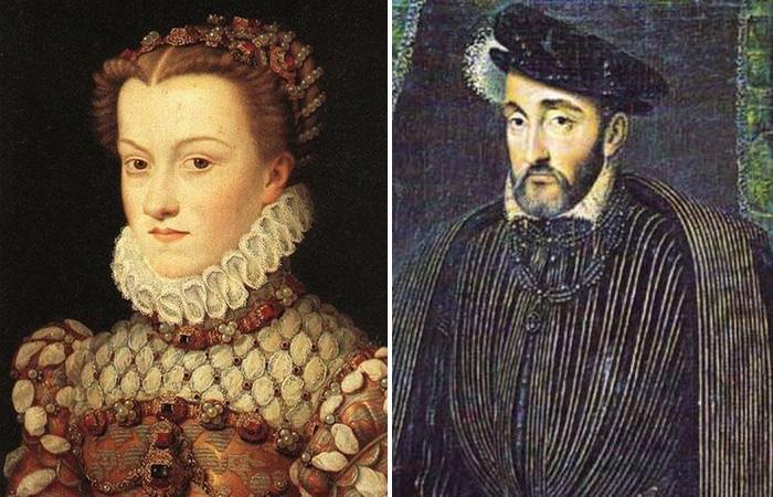 Диана де Пуатье  и Генрих II.