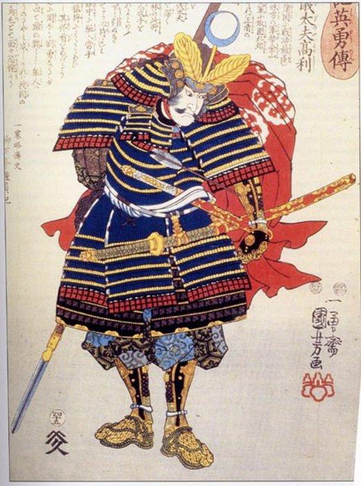Самурай в «хоро» - одежде, используемой для защиты от стрел.