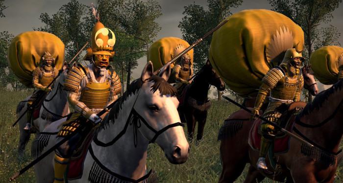 Самураи в бою.