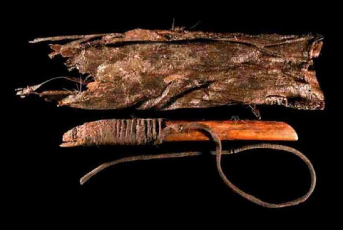 Предмет, принадлежавший древнему индейцу.