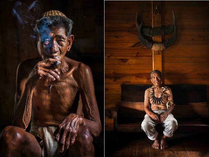 Портреты двух представителей горных племен.