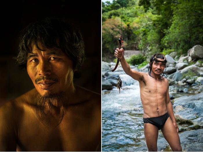 Двое тинггуанских мужчин. Марлон всю жизнь занимается рыболовлей, а Ла-ав — охотник горного племени.
