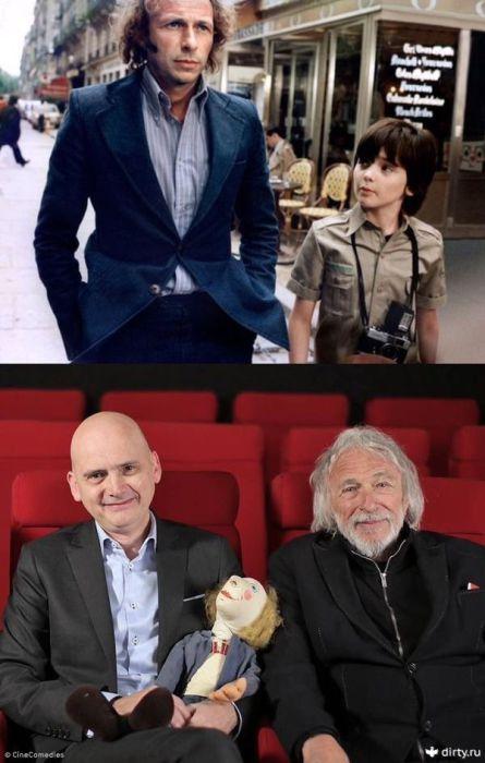 Партнёры по фильму тогда и сейчас. Фабрис Грекои Пьер Ришар.