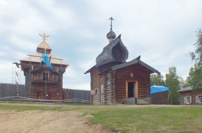 Казанская церковь из Илимского острога в музее-заповеднике
