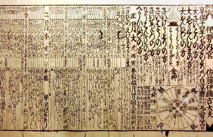 Календарь 1729 года. / Фото: thevintagenews.com