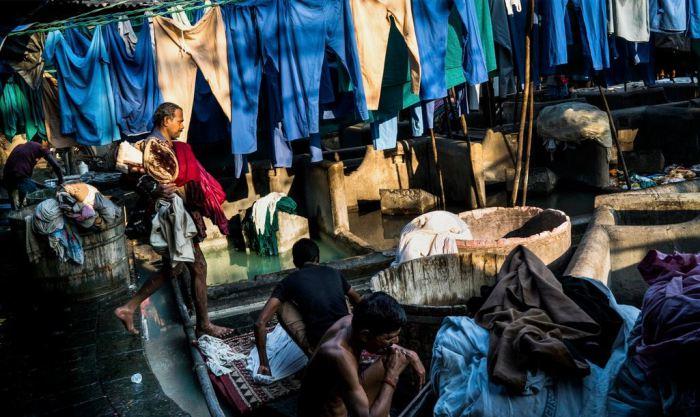 Дхоби Гат - крупнейшая в мире прачечная под открытым небом.