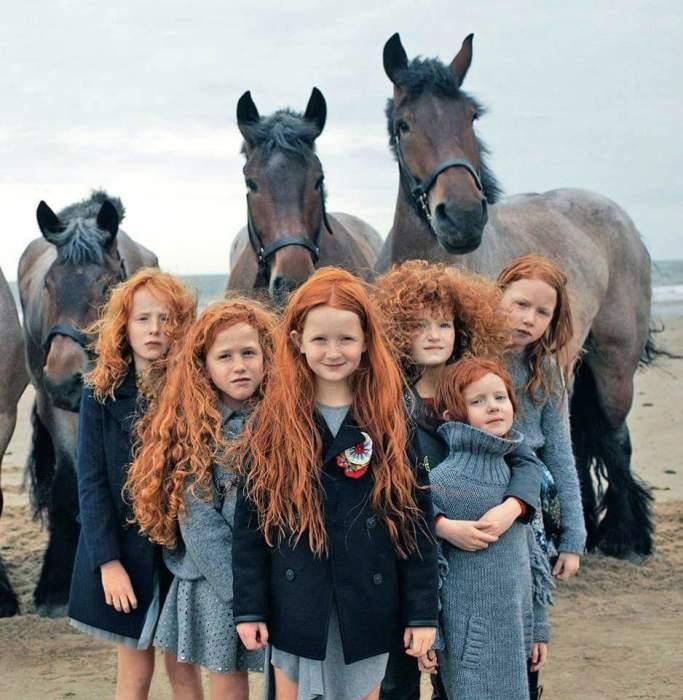 Рыжеволосых в Ирландии около 12%.