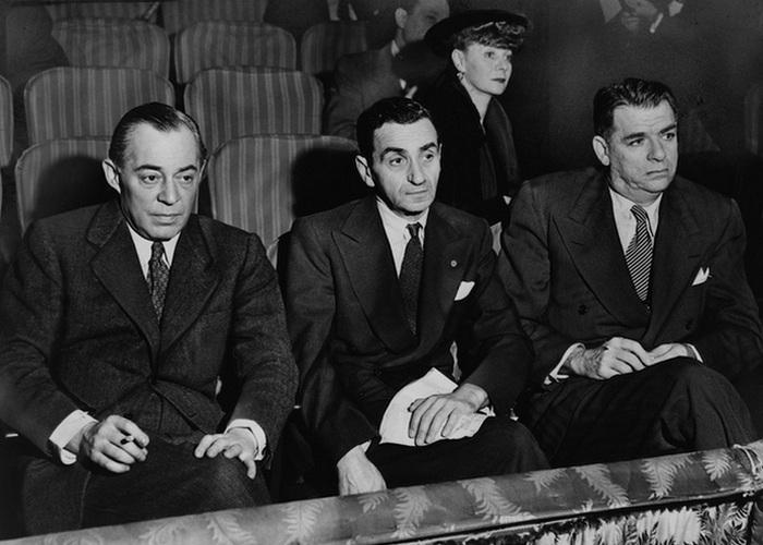 Роджерс (слева), Ирвинг Берлин, Хаммерстайн и Хелен Тамирис на прослушиваниях 1948 г./ Фото: algemeiner.com