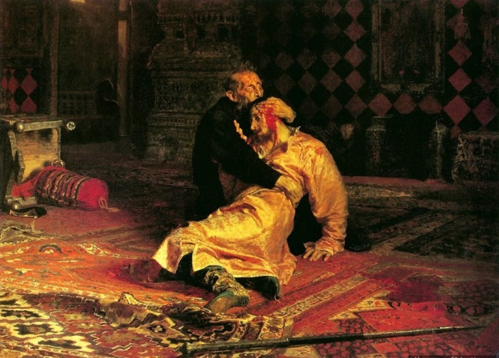 И.Е.Репин. «Иван Грозный и сын его Иван 16 ноября 1581 года» (1885).