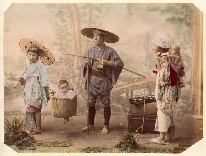Японская семья.