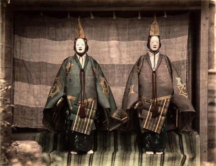 Актёры японского театра.