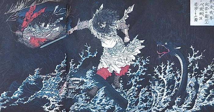 8-главый дракон Ямата-но-Ороти.