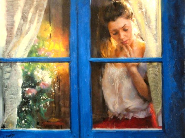Эта женщина в окне...