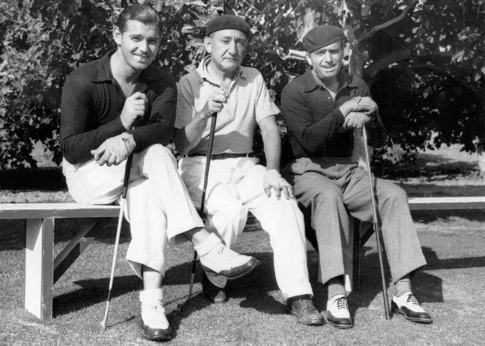 Кларк Гейбл, Джозеф Шенк и Дуглас Фэрбенкс./Фото: persons-info.com