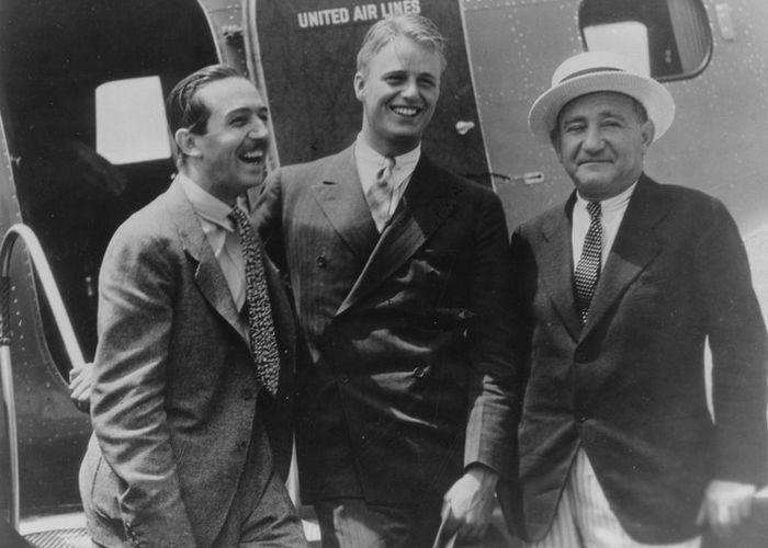 Уолт Дисней, Эллиот Рузвельт и Джозеф Шенк./Фото: picsofcelebrities.com